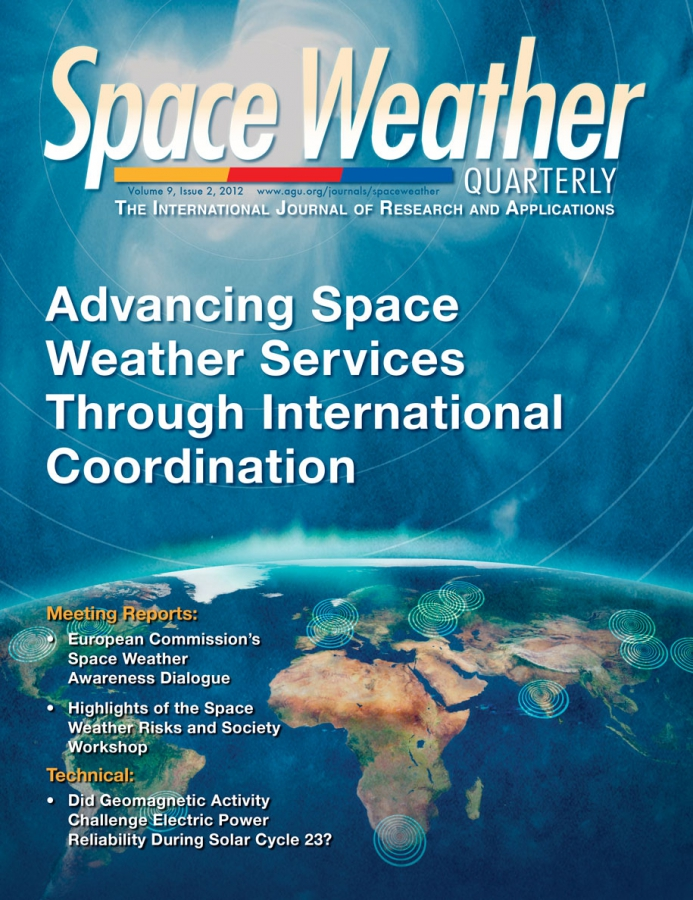 Space Weather Cover Design and Illustration for Print and Mobile Ap