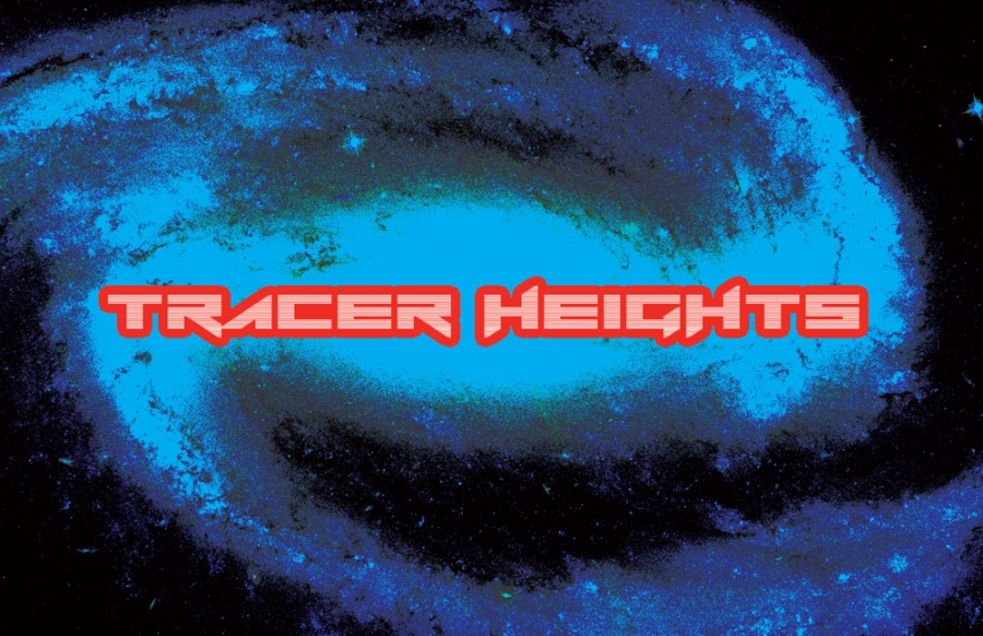 Tracer Heights band logo art