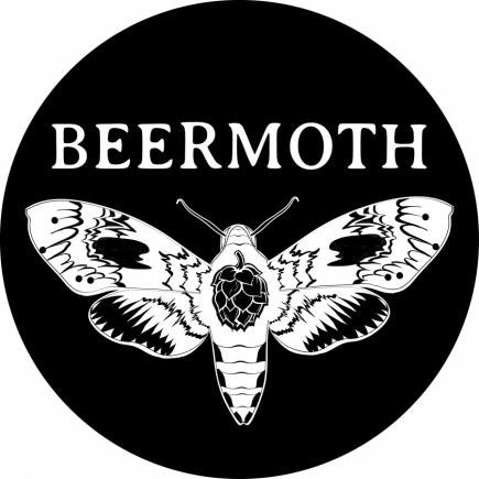 Beermoth Logo Design (B&W)