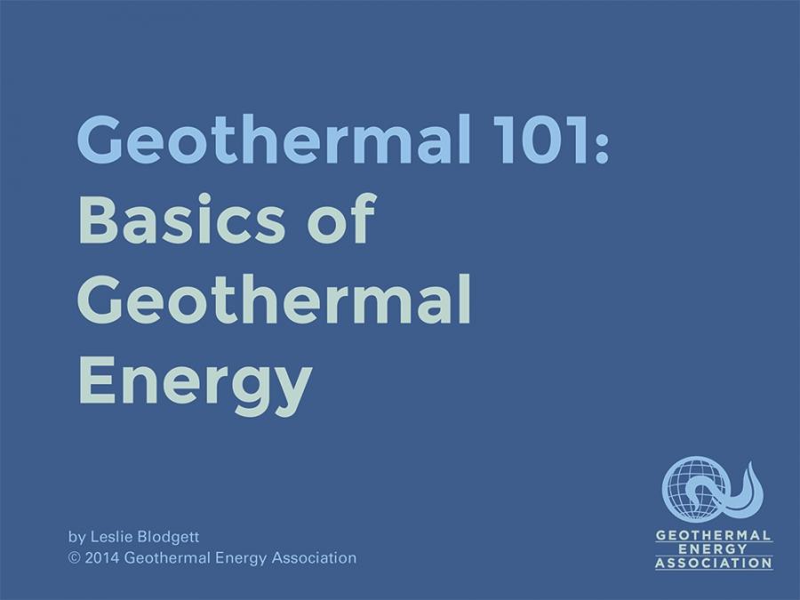 Geothermal Energy Slideshow