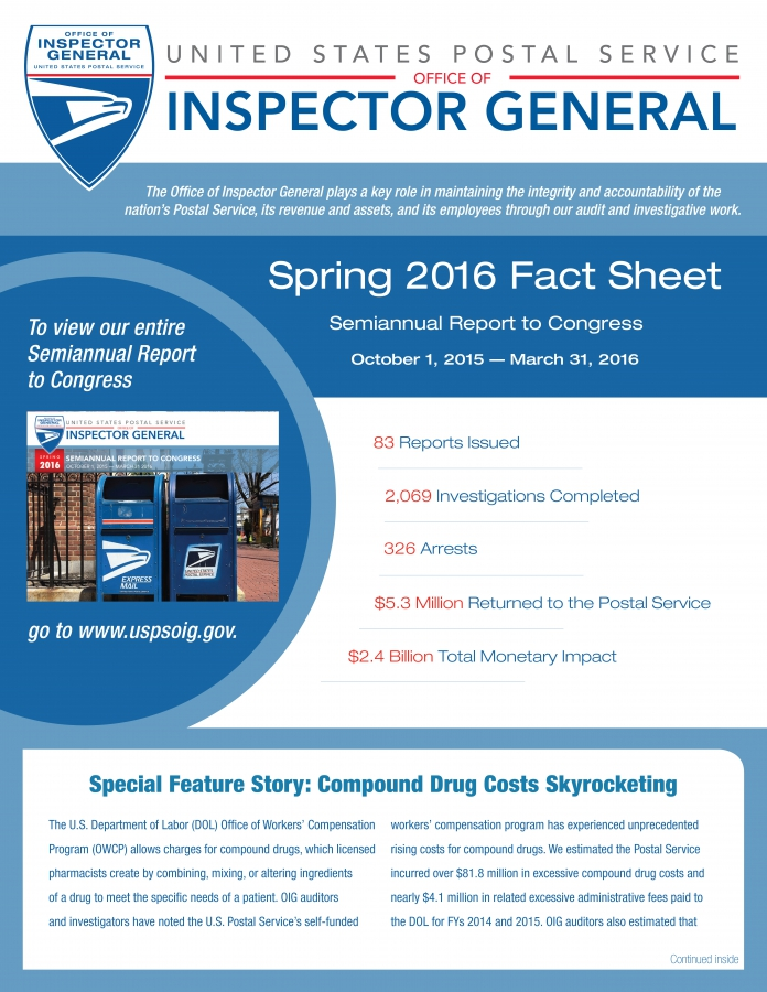 Spring 2016 Fact Sheet to Congress