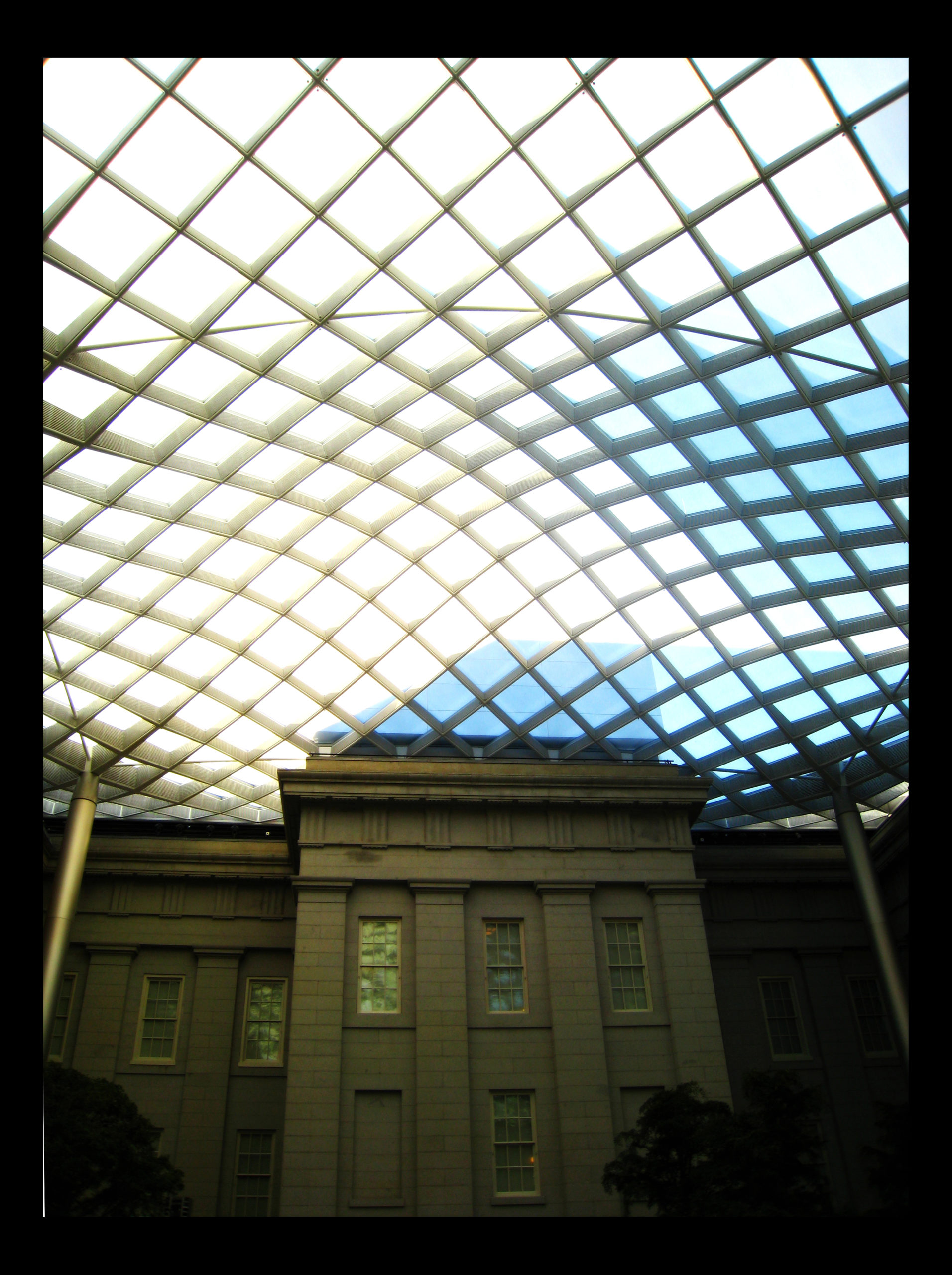 Restored Courtyard of the former US Patent Office, Washington D.C., January 2008