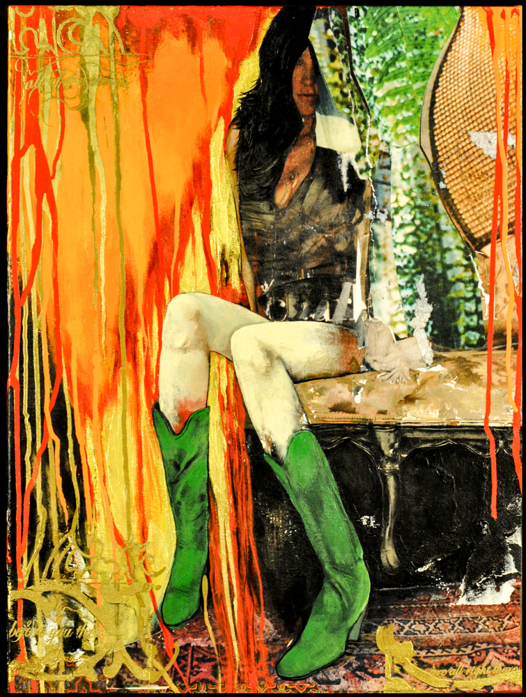 All of the Pieces Before Me There 2009 18x24 Acrylic, Photo Collage