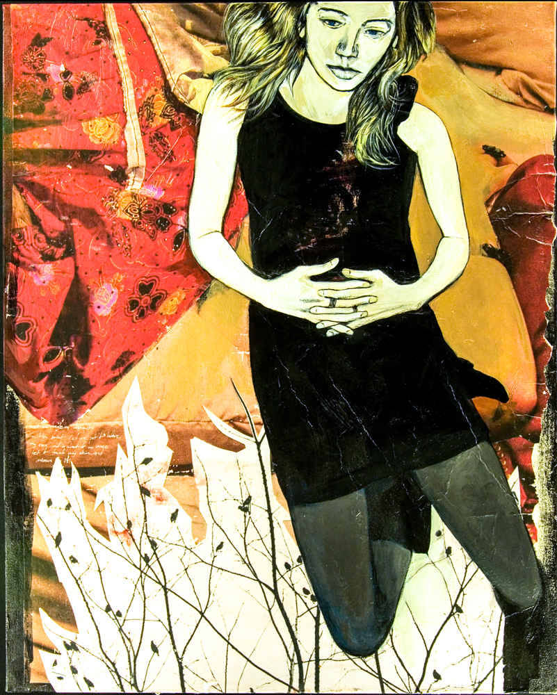 To Test This Point 2009 40x50 Acrylic, Photo Collage
