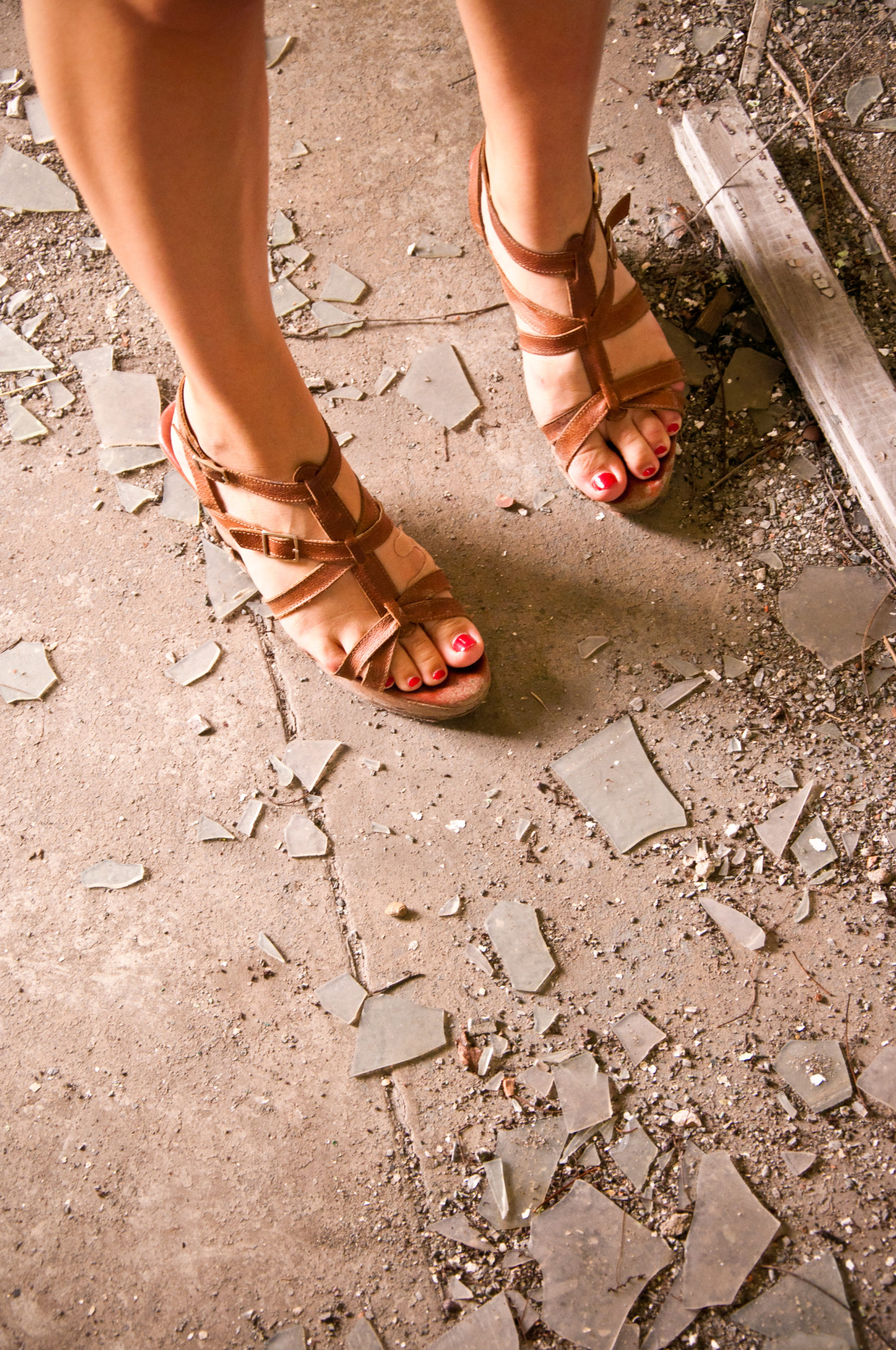 Sandals and Glass, McMillian Water Treatment Plant, Washington D.C., September 2011