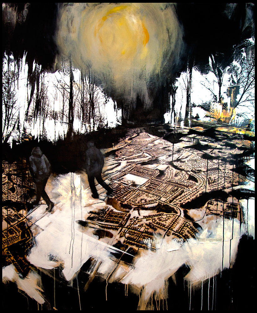Never Again, Just Now 2013 50x60 Acrylic, Photo Collage, Inkjet Print, Ink